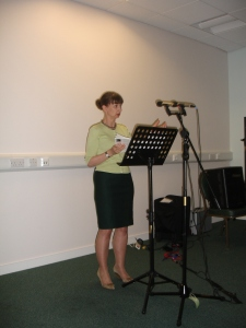 Allison McVety Reading at Enfield Poets May 2014