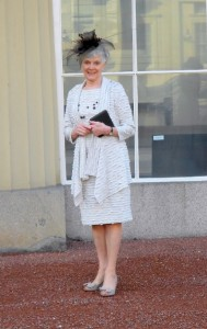 Patricia Oxley receiving her MBE at the Palace
